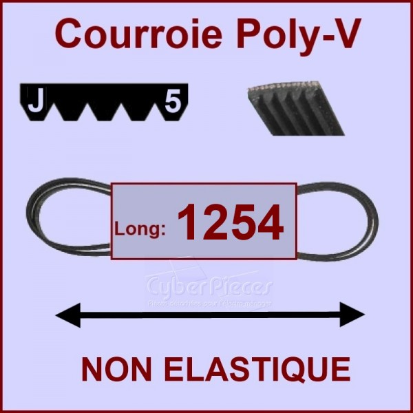 Courroie 1254 J5 non élastique