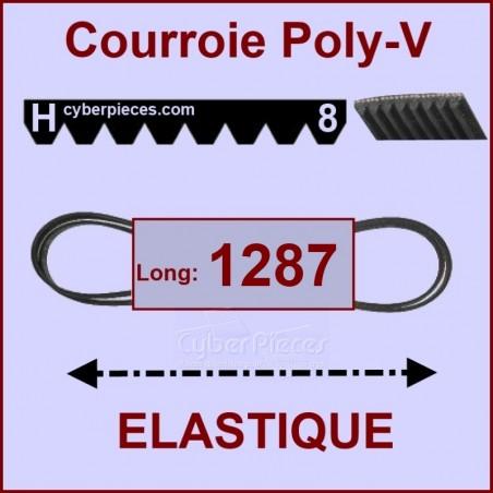 Courroie 1287 H8 - EL- élastique