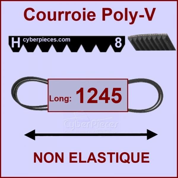 courroie 1245 h8 non lastique pour courroies machine a. Black Bedroom Furniture Sets. Home Design Ideas