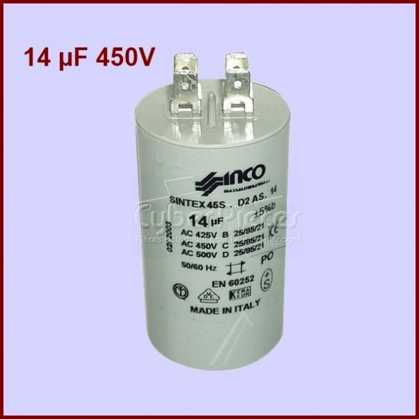 Condensateur 14,0µF (14,0MF) 450 Volts