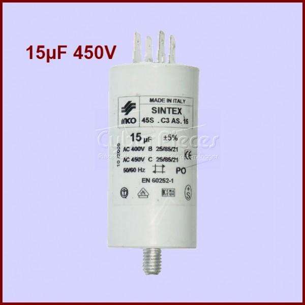 Condensateur 15,0µF (15,0MF) 450 Volts