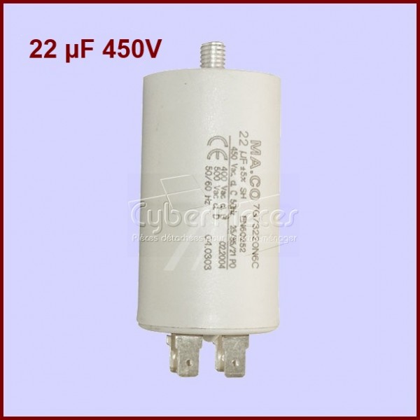 Condensateur 22,0µF (22,0MF) 450 Volts