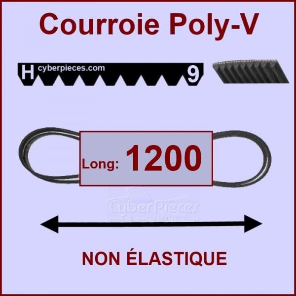 Courroie 1200 H9 non élastique