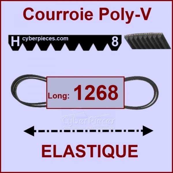 Courroie 1268 H8 - EL- élastique
