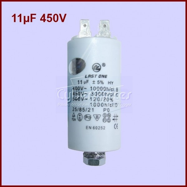 Condensateur 11,0µF (11,0MF) 450 Volts