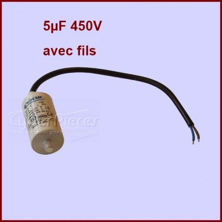 Condensateur filaire 5.0µF (5.0MF) 450 Volts