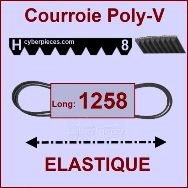 Courroie 1258 H8 - EL- élastique