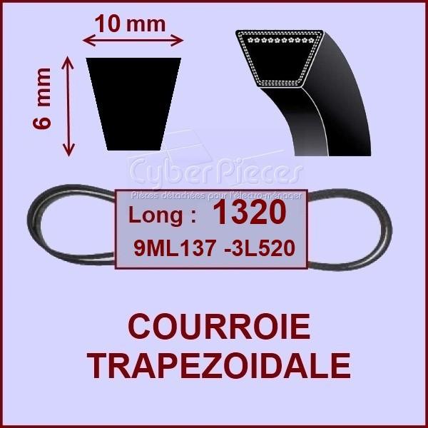 Courroie trapézoïdale 10 X 6 X 1320 - 9ML137 - 3L520
