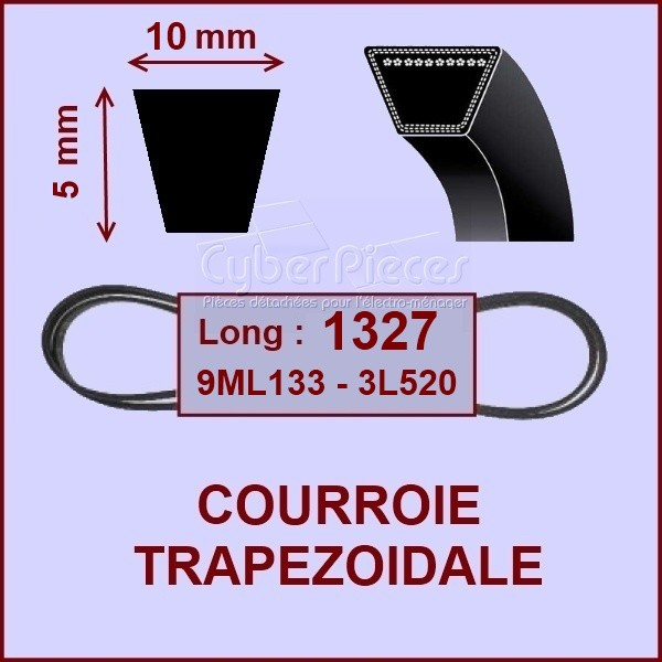 Courroie trapézoïdale - 10 X 5 X 1327  -3L520 -  9ML133