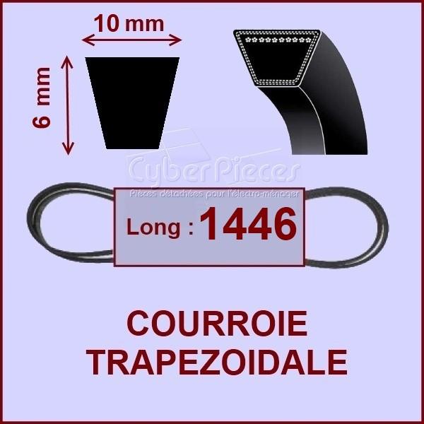 Courroie trapézoïdale 10 X 6 X 1446