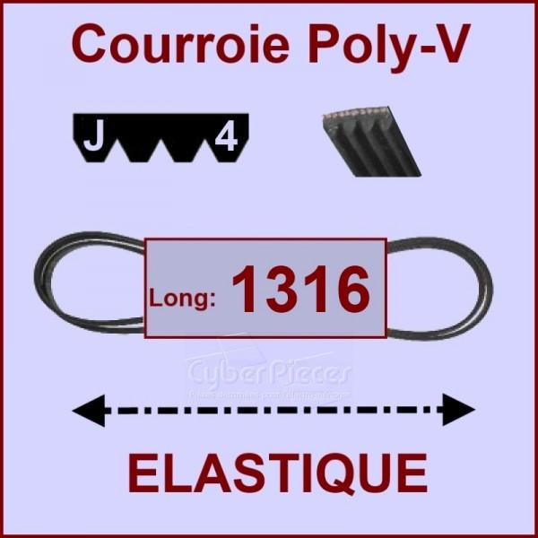 Courroie 1316 J4 - EL- élastique