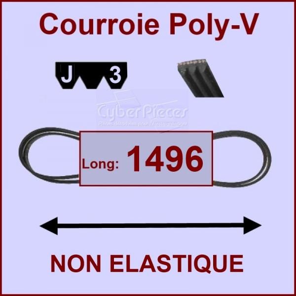 Courroie 1496 J3 non élastique