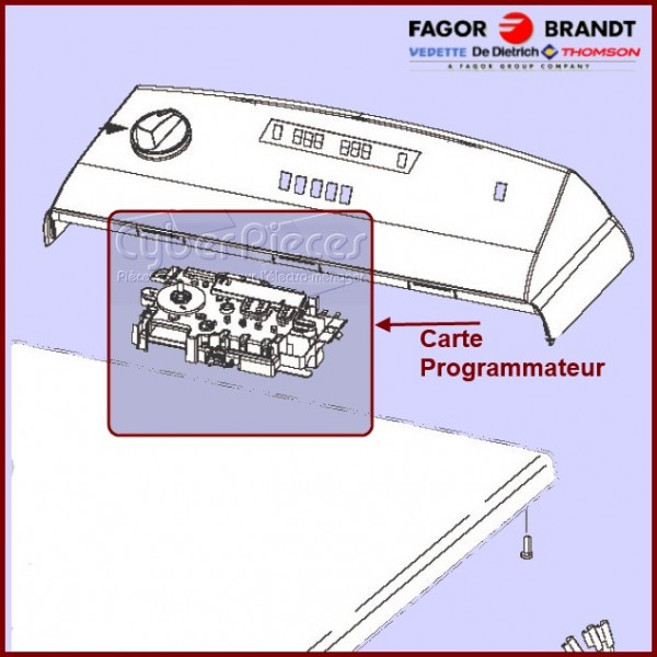 Module de commande Brandt 57X3352