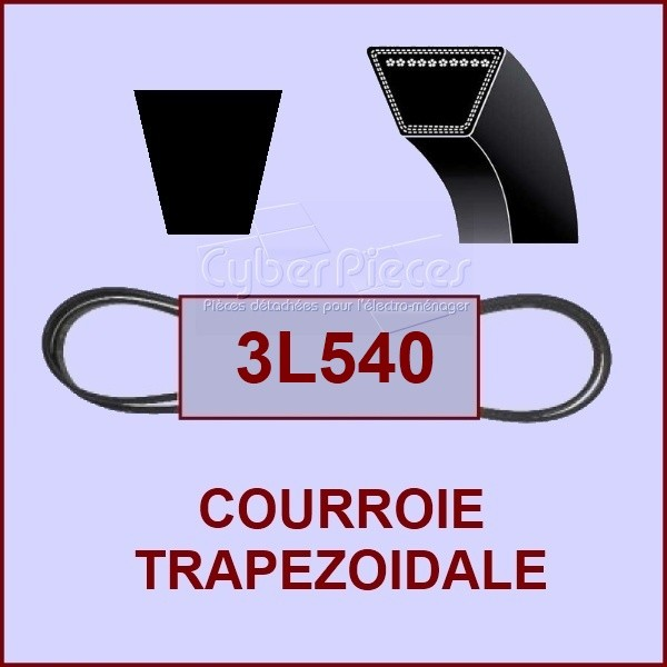 Courroie trapézoïdale 3L540