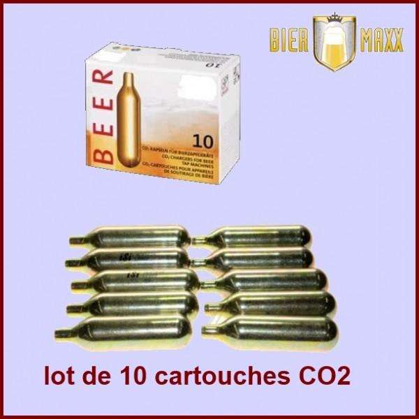Lot de 10 cartouches C02 pour machines Biermaxx