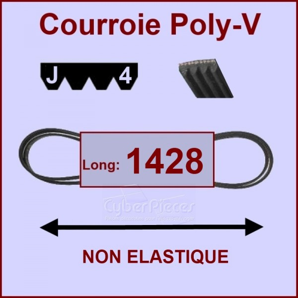 Courroie 1428 J4 non élastique