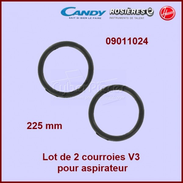 Lot de 2 courroies V3 - HOOVER 09011024