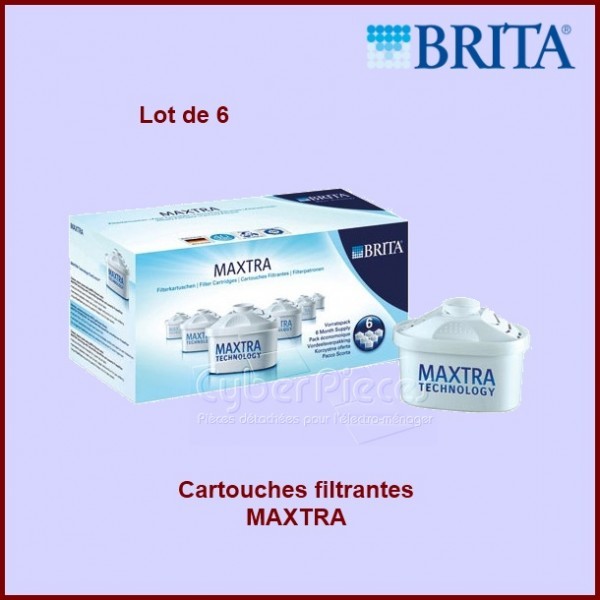 cartouches filtrantes brita maxtra lot de 6 pour. Black Bedroom Furniture Sets. Home Design Ideas