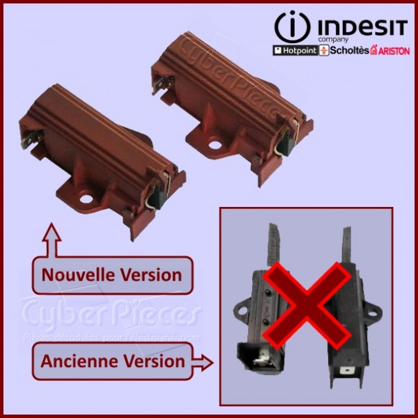 Lot de 2 charbons Moteur indesco