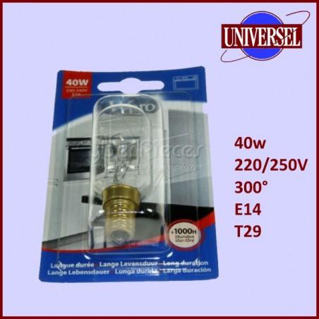 Lampe de four  E14 40W 230V T29 (300°)