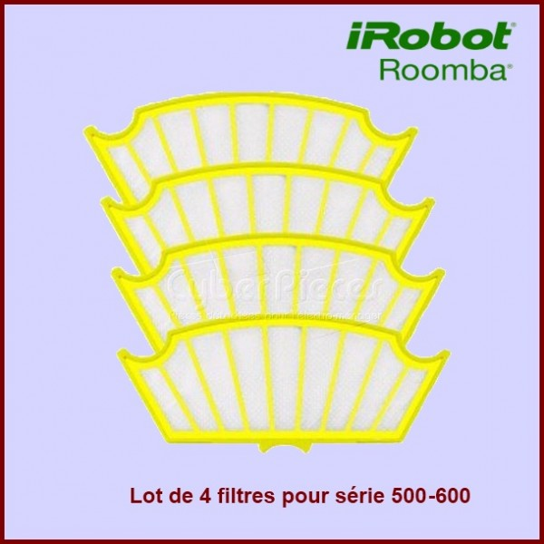 Lot de 4 Filtres pour Irobot ROOMBA