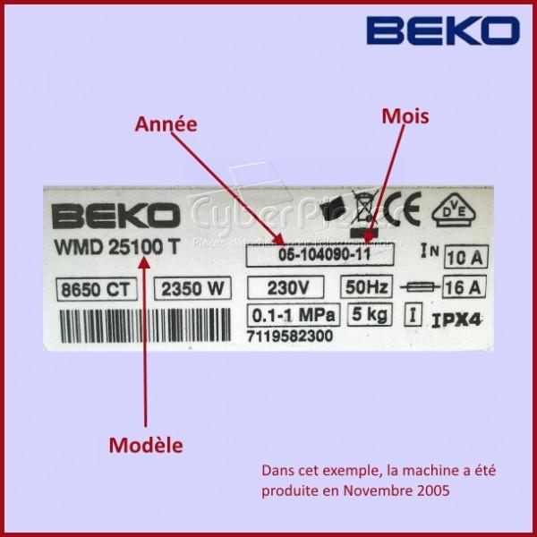 Cadre ext rieur de hublot beko 2813150100 pour hublot - Stickers pour machine a laver hublot ...