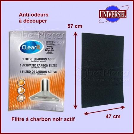 Filtre à charbon  57x47x1,5 cm
