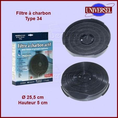 Filtre à charbons Type 34