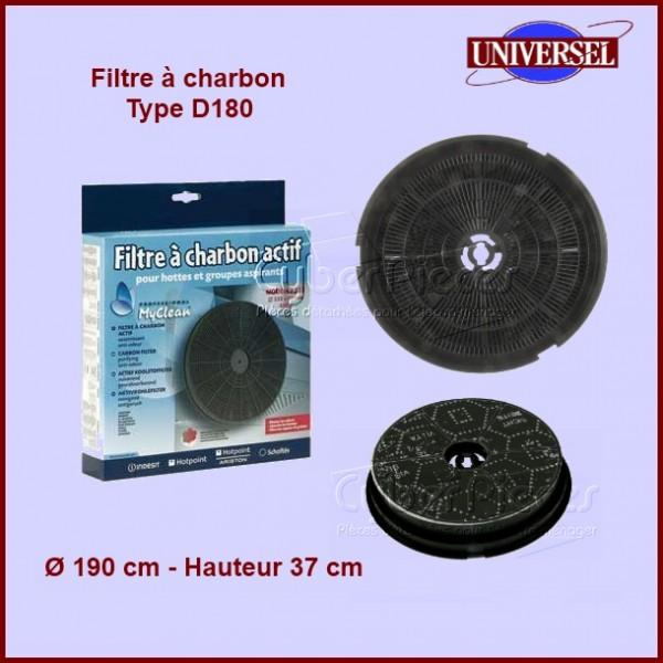 filtre charbon type d180 cr300 pour filtres a charbons hottes cuisson pieces detachees. Black Bedroom Furniture Sets. Home Design Ideas