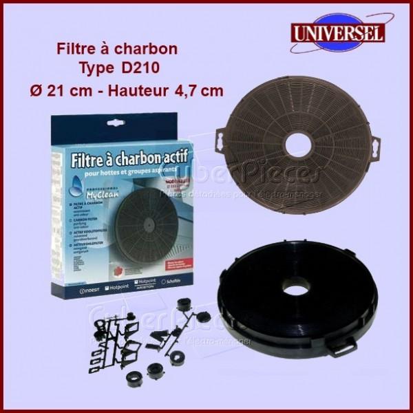 filtre charbon type d210 pour filtres a charbons hottes cuisson pieces detachees electromenager. Black Bedroom Furniture Sets. Home Design Ideas