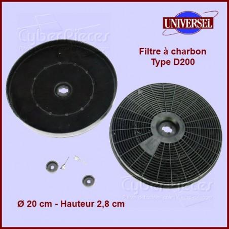 Filtre à charbon Type D200