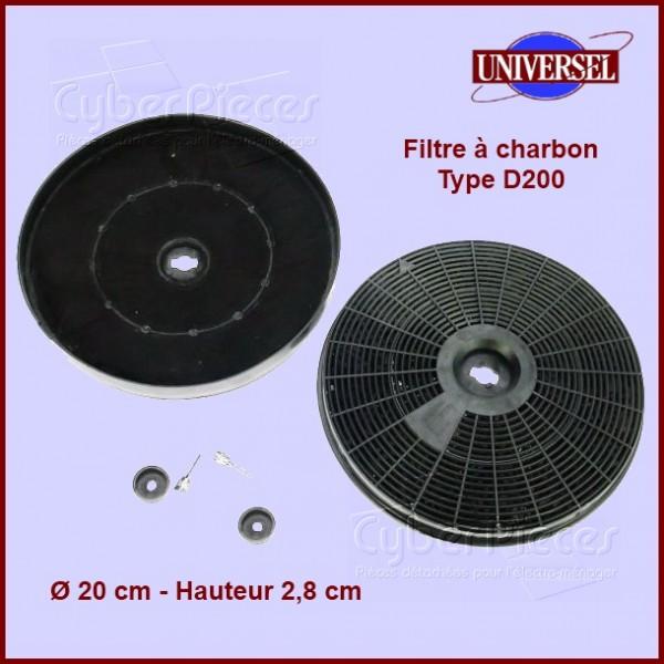 filtre charbon type d200 pour filtres a charbons hottes. Black Bedroom Furniture Sets. Home Design Ideas