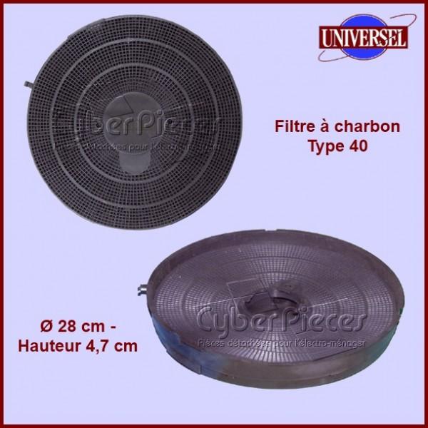 Filtre à charbon Type 40