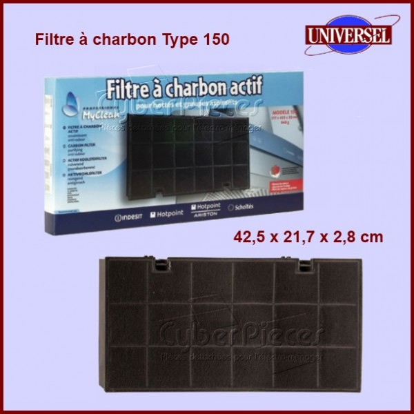 filtre charbon type 150 pour filtres a charbons hottes. Black Bedroom Furniture Sets. Home Design Ideas