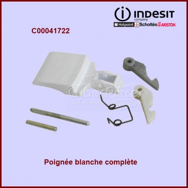 Poignée blanche complète Indesit C00041722