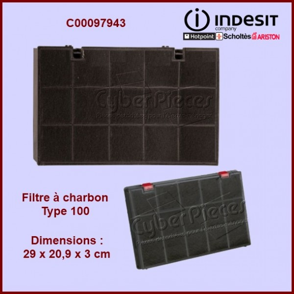 filtre charbon type 100 pour filtres a charbons hottes cuisson pieces detachees electromenager. Black Bedroom Furniture Sets. Home Design Ideas