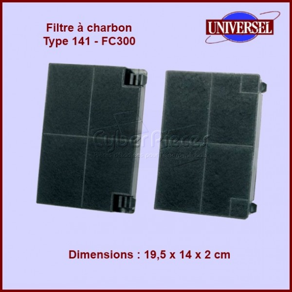 filtre charbon type 141 fc300 pour filtres a charbons hottes cuisson pieces detachees. Black Bedroom Furniture Sets. Home Design Ideas
