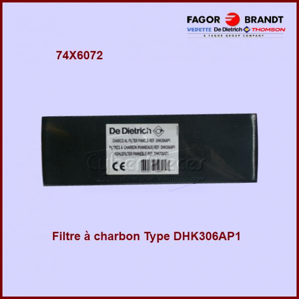 Filtre à charbon Type DHK306AP1 - 74X6072