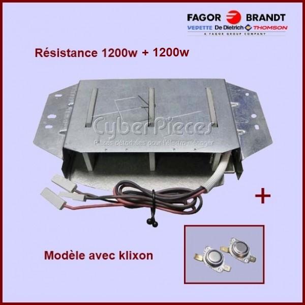 Résistance 1200w + 1200W   + 2 Klixons 57X2272