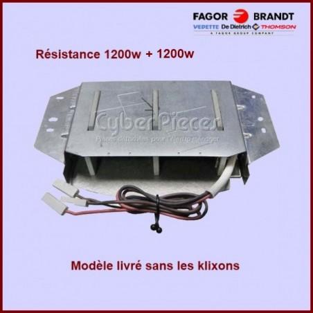 Résistance 1200+1200W - 230V - version  sans klixons / 57X2272
