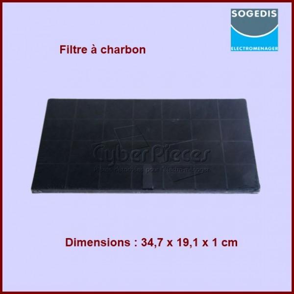 filtre charbon 347x191x10 mm pour filtres a charbons hottes cuisson pieces detachees. Black Bedroom Furniture Sets. Home Design Ideas