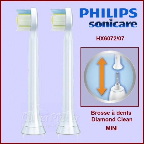 Brosses à dents Sonicare Diamond Clean Mini HX6072/07