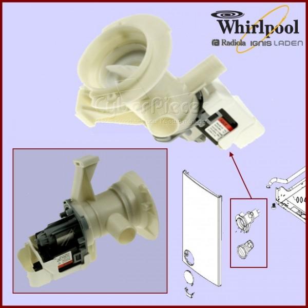 Pompe de vidange whirlpool 480110100001 pour pompe de vidange machine a laver lavage pieces - Pompe a eau machine a laver ...