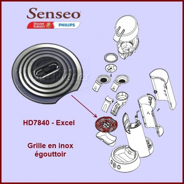 Grille en inox égouttoir Senséo HD7840 - 422225921860