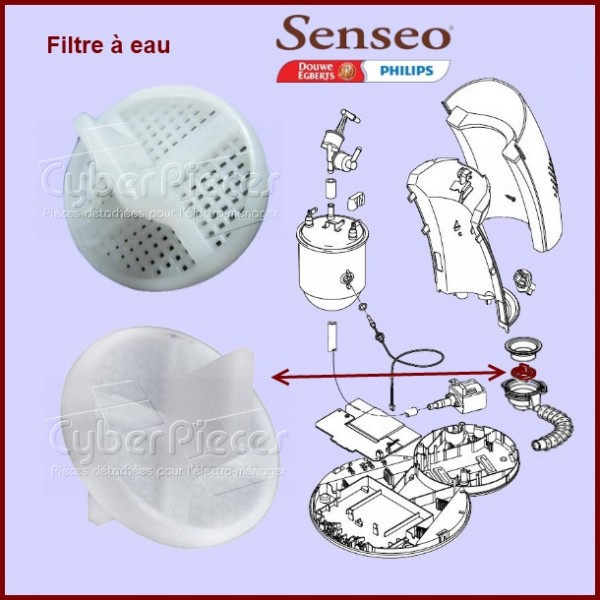 filtre r servoir senseo 422224735870 pour senseo machine. Black Bedroom Furniture Sets. Home Design Ideas
