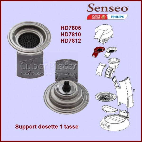 Support dosette 1 tasse gris Senseo - 422225938980
