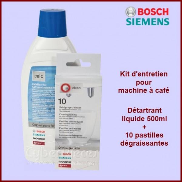 Kit de nettoyage Comprend 10 pastilles de nettoyage et un détartrant liquide détartrant 00311196