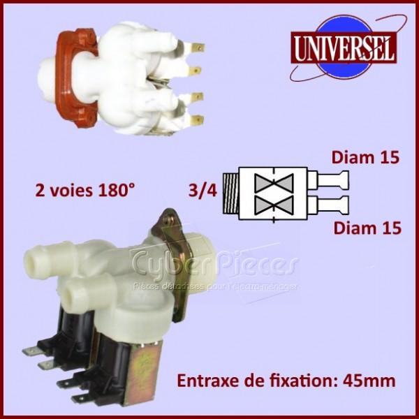 Électrovanne 2 voies 180° Ø 14-15 mm