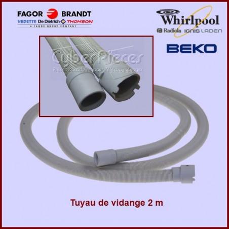 Tuyau de vidange droits 2m - Beko 1740160300