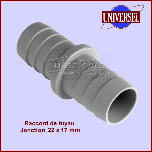 Jonction 22X17 mm pour tuyau de vidange